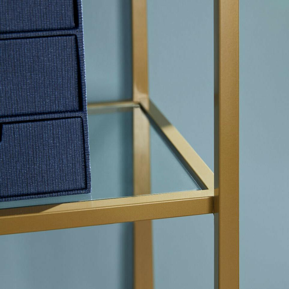 NARROW BOOKCASE Open Tempered Glass