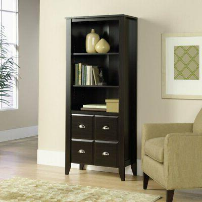 shoal creek library bookcase with doors