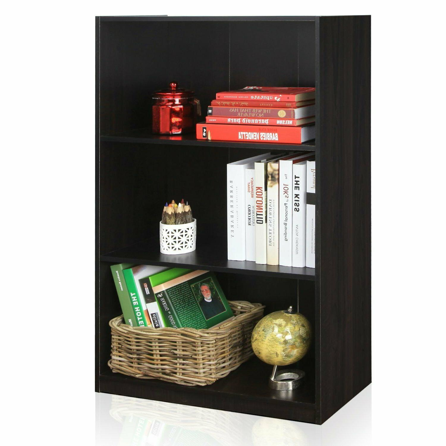 Small Bookshelf Vertical For Wall Adjustable Book 3
