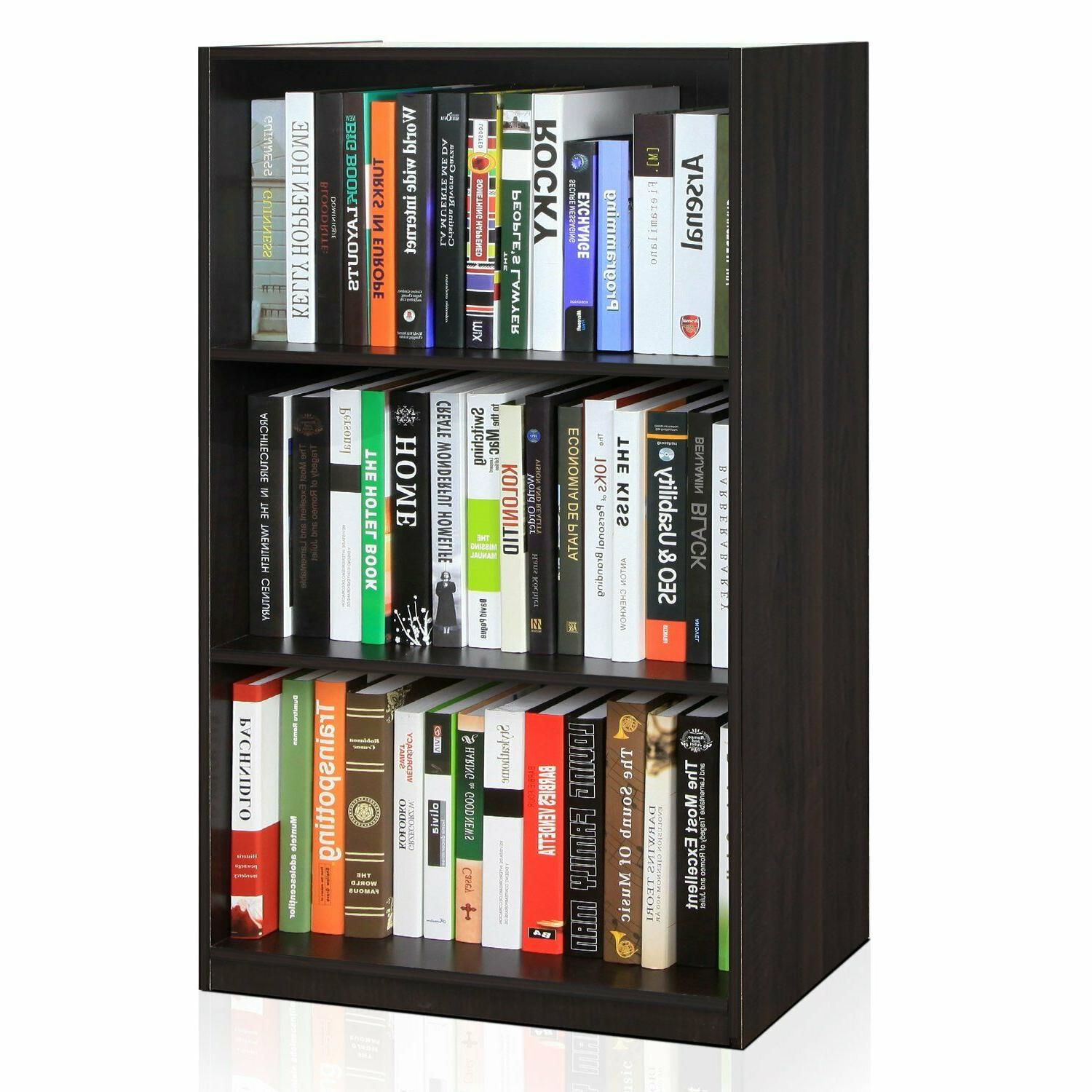 Small Bookcase Vertical For Wall Adjustable Tier