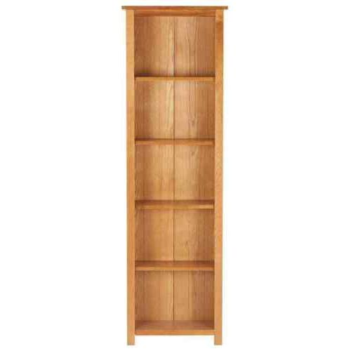 Solid Wood Shelving Unit Narrow Storage Low