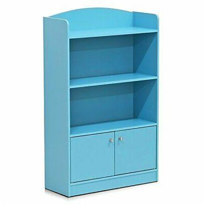 stylish kidkanac bookshelf with storage cabinet light
