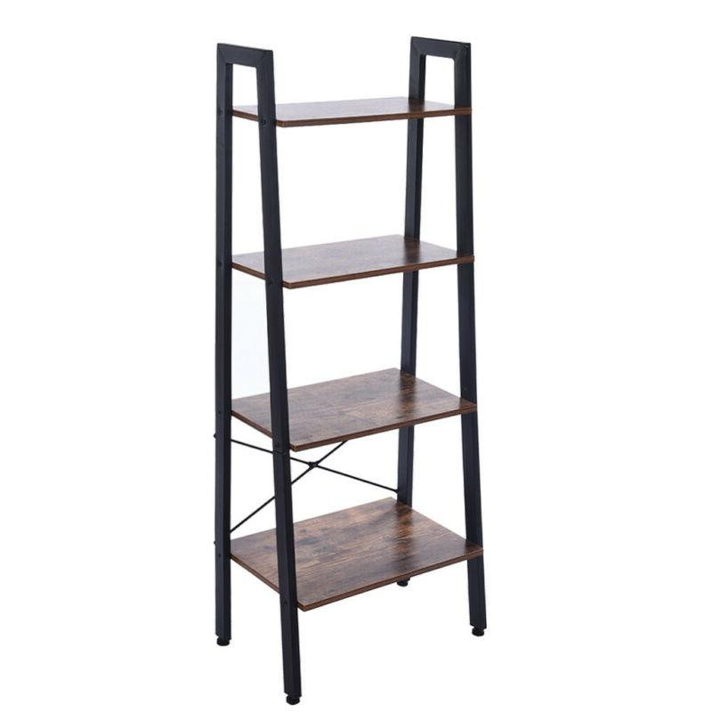 4-Tier Ladder Rack Shelving Display
