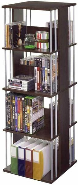 Multimedia Storage Cabinet DVD Rack Book Shelf Organizer Sta