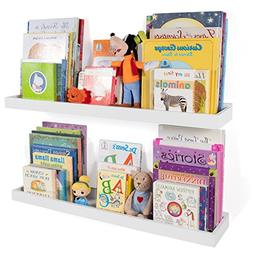 Wallniture Philly Nursery Bookshelf - Floating Book Shelves
