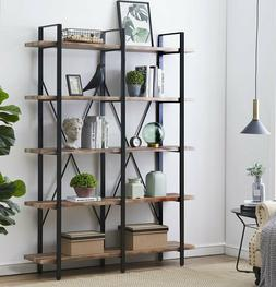 O&K FURNITURE 4 Tier Bookcases and Book Shelves, Industrial