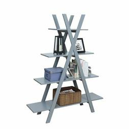 """Convenience Concepts Oxford """"A"""" Frame Bookshelf in Gray"""