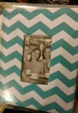 pioneer photo album hold 100 4x6 photos chevron teal and whi