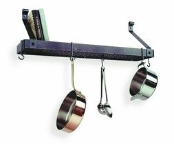 premier deep bookshelf wall pot rack hammered