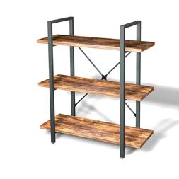Shelving Bookcase Wood Wide Bookshelf Open Metal Farmhouse B