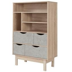 St. Regis Collection Bookshelf and Storage Cabinet with Draw