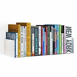 Wallniture Bali Sturdy Metal U Shape Bookshelf - Wall Mounta
