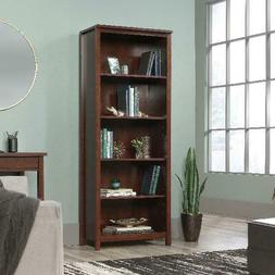 tall bookcase display shelves library storage organizer