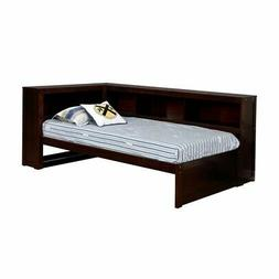 Furniture of America Tedworth Bookshelf Full Daybed in Dark