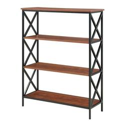 Convenience Concepts Tucson 4 Tier Bookcase Black & Cherry