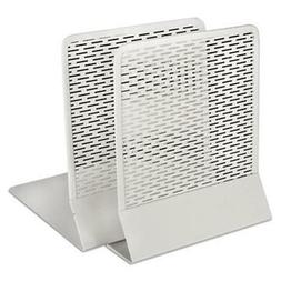 Artistic Urban Collection Punched Metal Bookends , White