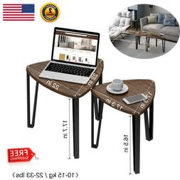 Vintage Industrial Nesting Coffee Table Set Home Stacking Ni