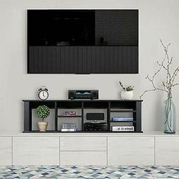 Wall Mounted TV Media Console Floating Hutch Bookshelf For K