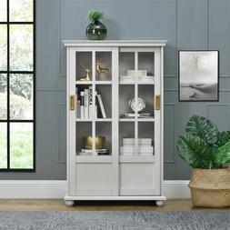 White Book Cases/shelves Off Glass Slim Tall Corner Bookshel