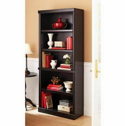 Wooden Bookcase 5-Shelf Storage Bookshelf Solid Wood Barrist